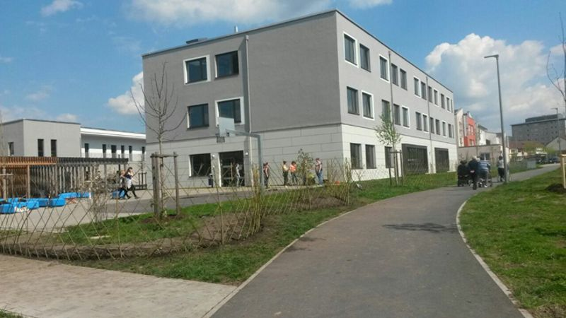 Lebender Zaun für Fachschule